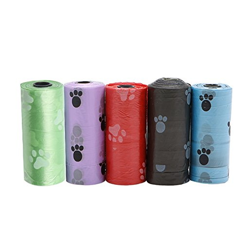 mini-cleaning bags llwei258 Pet Dog Waste Poop Bag Poo Printing Degradable Clean-up pet garbage bags car cleaning kits carry bags clean desktop cleanup bags Purple small pouch