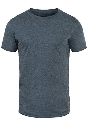 de mezcla de manga escote Camiseta corta para azul y con hombre Tao insignia 8991 redondo tZOqAq4w