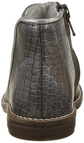 Minibel Mädchen Nubian Kurzschaft Stiefel Noir (Noir/Croco Anthracite)