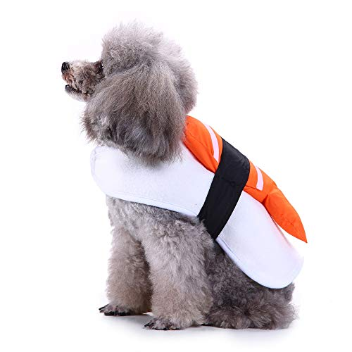 Letdown Pet Puppy Clothes, Fashion Costume Company Sushi Pet Costume Dress Up Clothes (S, Orange) -