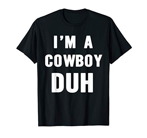 Easy Halloween Cowboy Costume Shirt for Men Women -