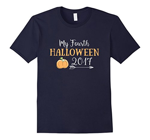 Mens 4th Halloween Four Year Old Birthday T shirt Medium Navy