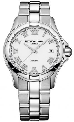 Raymond Weil Parsifal Automatic Stainless Steel Mens Watch Calendar White Dial 2970-ST-00308