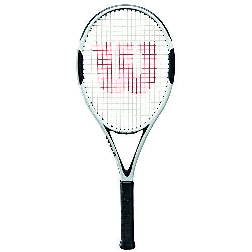 Wilson H6 Tennis Racket, White/Black, 4 1/2″