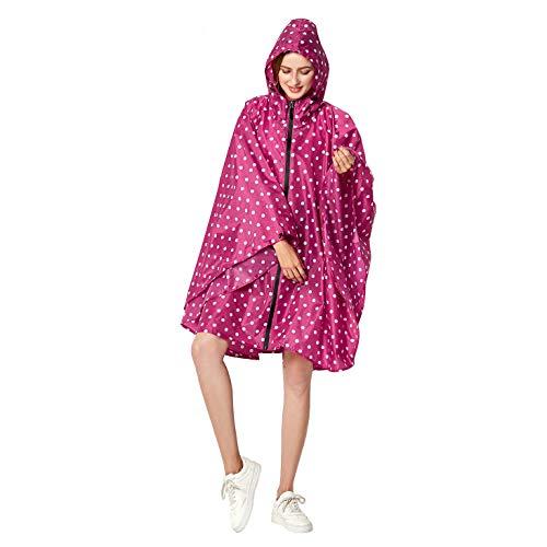 Anyoo Waterproof Rain Poncho Lightweight Reusable Hiking Hooded Coat Jacket for Outdoor Activities (Best Mens Outdoor Coats)