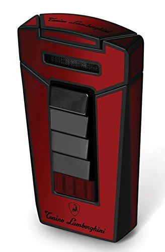 Tonino Lamborghini Aero Red and Black Torch Flame Cigar Lighter - Ignition Jacket
