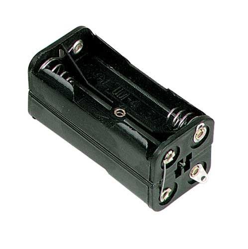 Acoplador de 4 pilas AAA (LR3), con terminales a soldar: Amazon.es: Electrónica