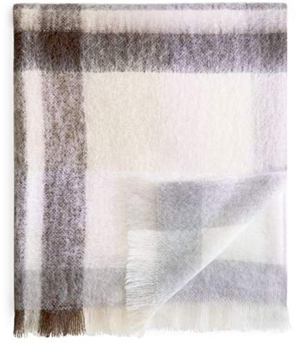 Live Comfortably Mohair Wool Blend Throw Blanket 50