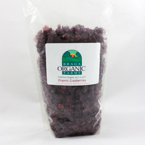 - Braga Organic Farms Dried Cranberries, 2 Pound