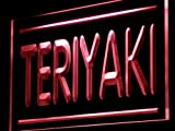 ADVPRO Teriyaki Cafe Shop Food Open LED Neon Sign Red 24'' x 16'' st4s64-j209-r