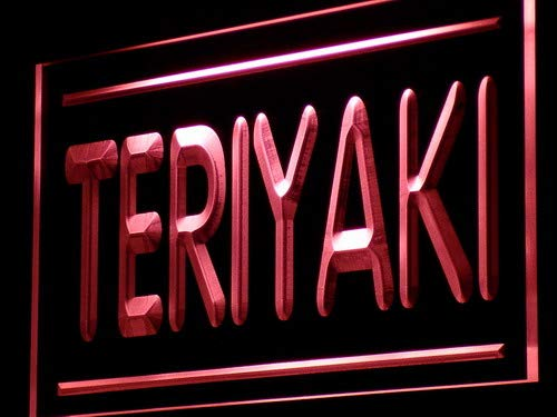 ADVPRO Teriyaki Cafe Shop Food Open LED Neon Sign Red 24'' x 16'' st4s64-j209-r by ADVPRO