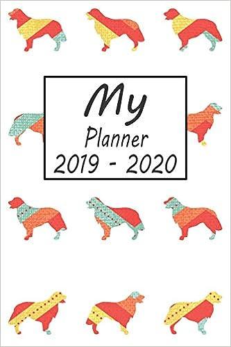 My Planner 2019 - 2020: Golden Retriever Dog Pattern Weekly ...