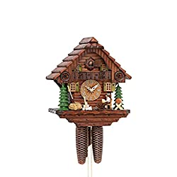 Cuckoo Clock Black Forest house with moving beer drinker KA 879