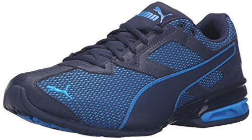 PUMA Men's Tazon 6 Mesh Cross-Trainer Shoe, Peacoat/Electric Blue, 9.5 M US (Light Blue Puma Sneakers compare prices)