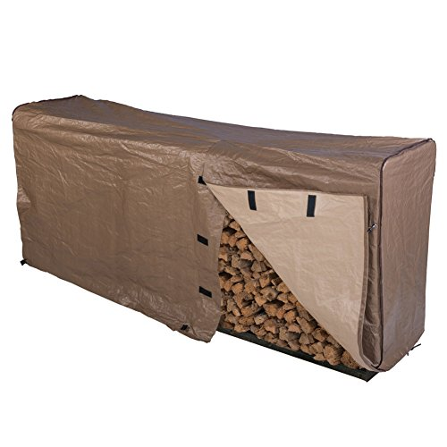 Abba Patio Firewood Log Rack Cover Waterproof Brown, 8-Feet by Abba Patio