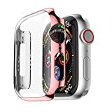 For Apple Watch 4 Case,Ultra Thin PC Plating Cases Protective Bumper Case Cover For Apple Watch 4 40mm 44mm (40mm, Rose Gold)
