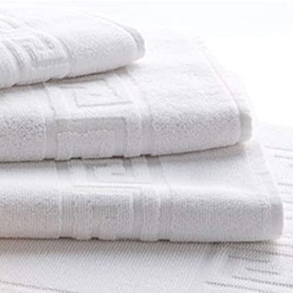 Energy Colors Textil - Hogar Juego DE Toallas Blancas 100% algodón 400 Gramos para Lavabo