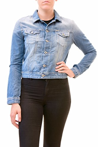 Diesel Women's Denim De-Pesc Long Sleeve Jacket Blue Size (Diesel Denim Jackets)