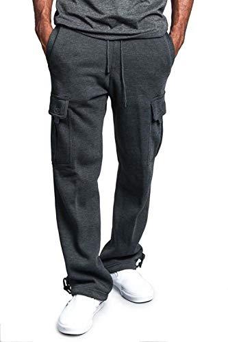 Grigio Simgahuva Poco Pantaloni Occasionale Gli Scurocolor Sport Larghi All'aperto 006qvB