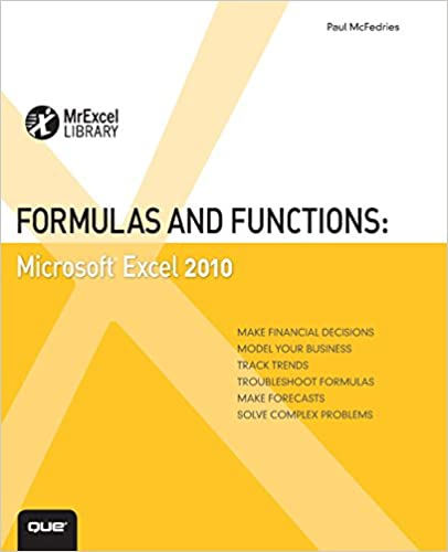 Formulas And Functions With Microsoft Office Excel 2007 Ebook