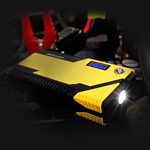 DBPOWER 500A Peak 12000mAh Portable Car Jump Starter Auto Battery Booster, Portable Phone Charger with Smart Charging Port, Compass & LCD Screen and LED Flashlight, for Engines up to 3L Gas and 2.5L D by DBPOWER (Image #5)