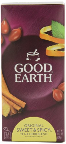 Good Earth Original Sweet and Spicy Tea and Herb Blend, 25-Count Tea Bags (Pack of 6)