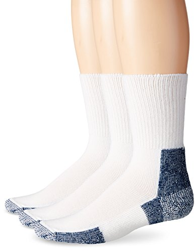 Thorlos Thick Padded Running Crew Sock, 3 Pack White XL
