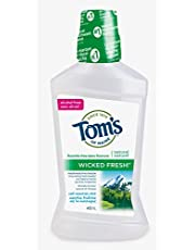 Tom's of Maine Wicked Fresh Cool Mountain Mint Natural Fluoride Free Mouthwash, 473 mL