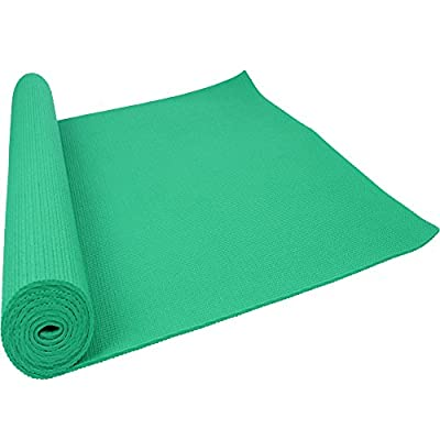 """Ezyoutdoor Natural Yoga Mats Pads Pilates Non-Slip Surface and Yoga Mat Non-slip Pad for Exercise Fitness Pad for Hiking Workout Camping Picnic Bivouac Exercise Outdoor Activities L68"""" x W24""""X thickness 0.11""""(green)"""