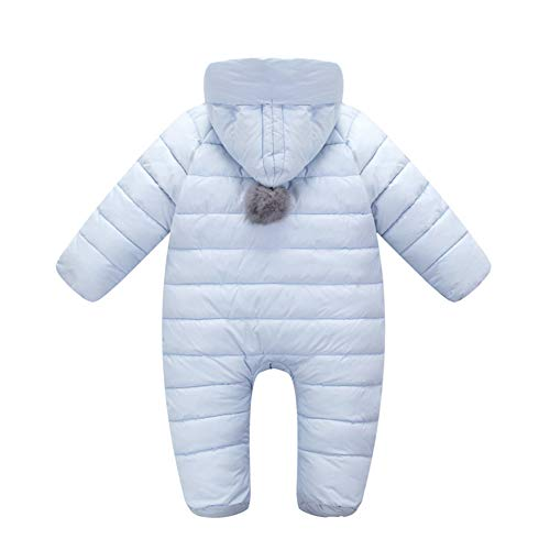Boys Fairy Warm Outwear Purple Hooded Snowsuit Thick Girls Baby Toddler Jumpsuit Winter frprEW