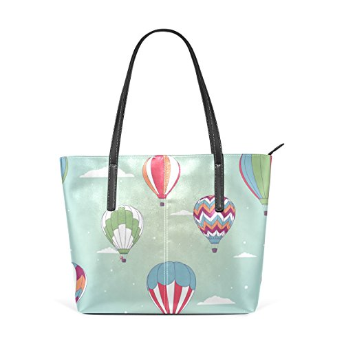 Handle Purses PU TIZORAX Handbag Leather Women's Top Totes Balloon Fashion Bags Shoulder Hot Air zzq6HwTF