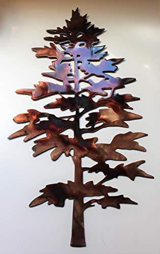 (Majestic Pine Tree Metal Wall Decor)