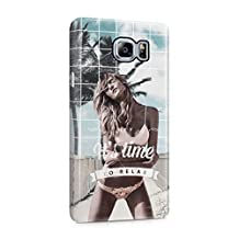 Hey It's Time To Relax Sexy Naked Blonde Girl On Beach Plastic Phone Snap On Back Cover Shell For Samsung Galaxy Note 5
