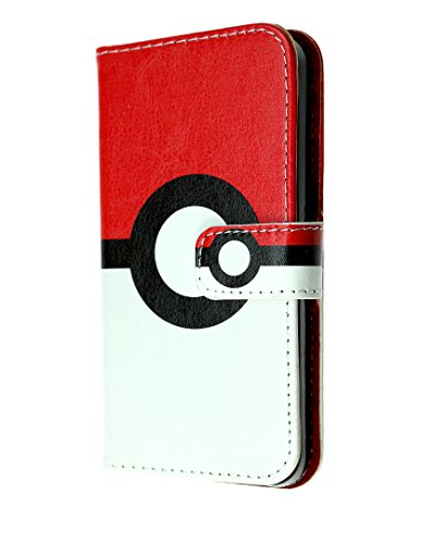 Galaxy S7 Wallet Case, IMAGITOUCH Folio Flip PU Leather Wallet Case with Kickstand Wrist strap and Card Slots for Samsung Galaxy S7 - Poke Ball Pokemon Go Wallet Photo - Pokemon Gaming