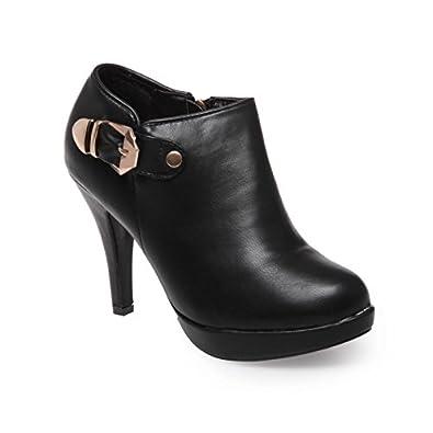 75a12ae7441 La Modeuse - Low Boots Femme en Simili Cuir  Amazon.fr  Chaussures ...