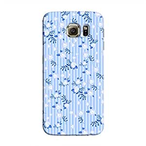 Cover It Up - Navy Flower Paper Blue Stripes Samsung Galaxy S6 Edge Plus Hard Case