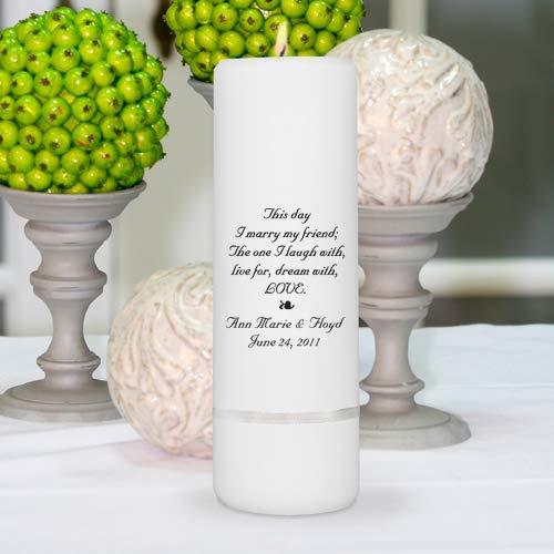 Personalized Unity Candle - Personalized Wedding Candle - Wedding Gift - Monogrammed Wedding Unity Candle
