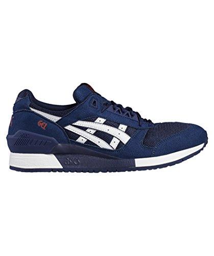 ASICS Uomo Nero/Bianco Gel-Respector Sneaker INDIGO BLUE/WHITE