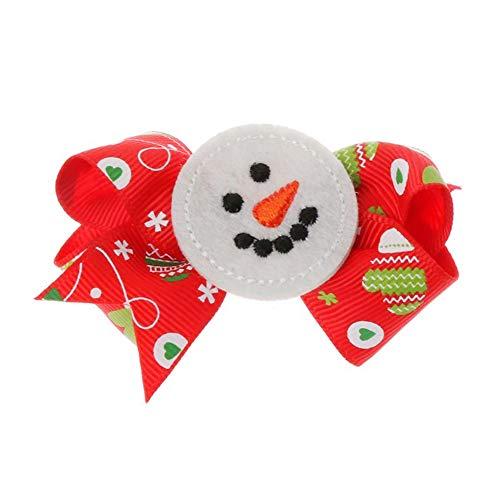 Floralby Baby Girls Christmas Tree Snowman Penguin Hair Clips Duckbill Hairpins Fashion Barrettes Hair Accessories