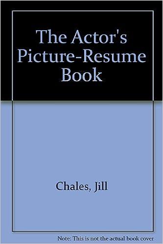 the actors pictureresume book