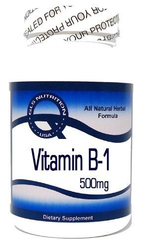 Vitamin B-1 (Thiamine Hydrochloride) 500mg 200 Capsules ^GLS by GLS by GLS