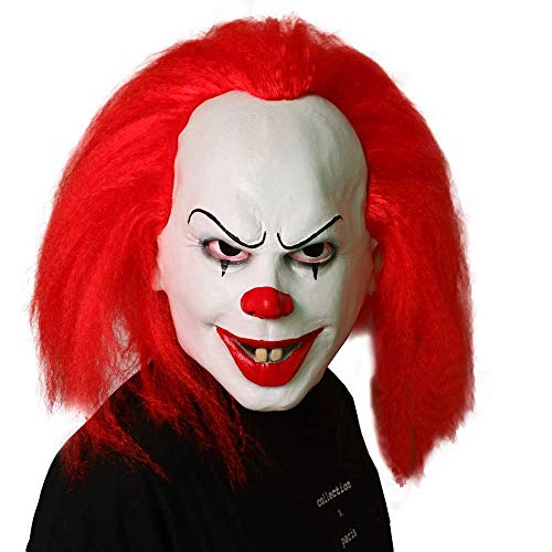 PAPIN Pennywise Mask Hot Toys IT 2017 Ultimate Scary Cosplay Costume Face Masks Horror Exclusive Clown Toy Halloween Christmas Collectible Collectable Gifts Collectibles Large Gift for Adults Adult