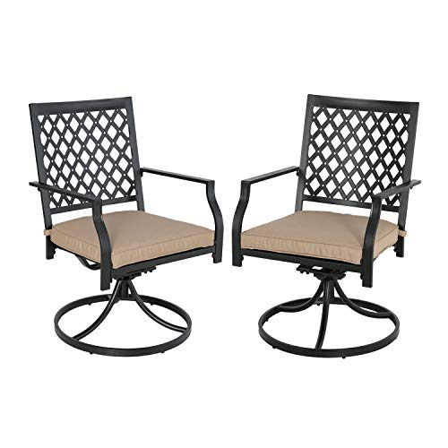 Swivel Chairs Patio - Ulax furniture Outdoor 2-Piece Patio Swivel Rocker Dining Chairs