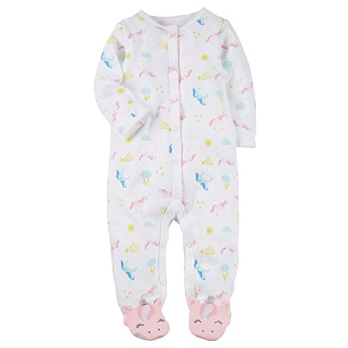 Carter's Baby Girls' Baby Girls Unicorn Snap up Cotton Sleep and Play 3 Months