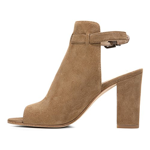 Open Women's Toe Leather Fabrizie Spiga Bootie Rattan Kid Via Suede xqpntI