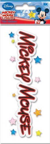 Disney Mickey Mouse Title Dimensional Sticker