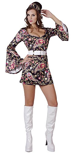 Black Ladies Disco Dress Costume