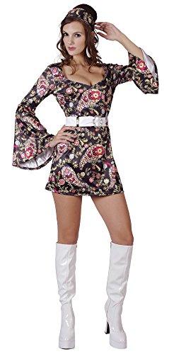 Black Ladies Disco Dress Costume - Abba Children's Costumes