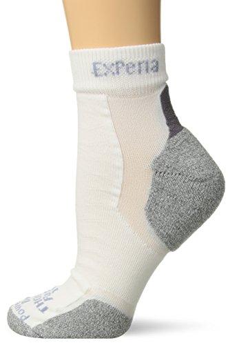 - Thorlos Experia Unisex XCMU Multi-Sport Thin Padded Ankle Sock, White, Xlarge