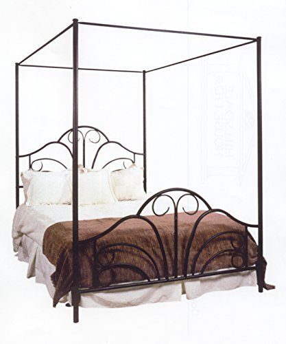 Hillsdale Furniture 348BFP Dover Bed Set with Canopy and Legs, Full, Textured - Hillsdale Full Bed Canopy Size